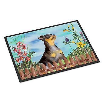 Miniature Pinscher #2 Spring Indoor or Outdoor Mat 24x36