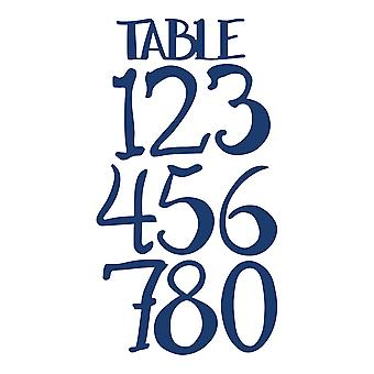 Essentials by Tattered Lace Rustic Charm Table Numbers Die