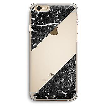 iPhone 6 Plus / 6S Plus Transparent Case (Soft) - Black marble