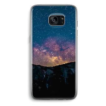 Samsung Galaxy S7 Transparent Grenzfall (Soft) - Reisen in Raum