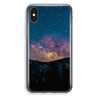 iPhone X Transparant Case - Travel to space