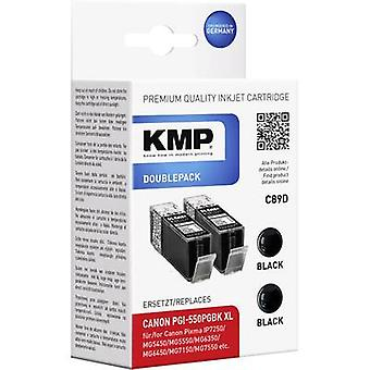 KMP Ink replaced Canon PGI-550BK, PGI-550BK XL Compatible Pack o