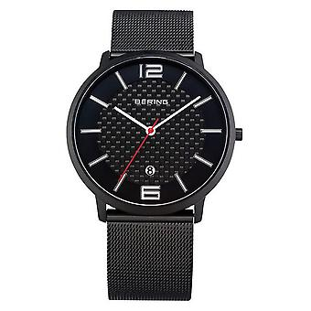 Bering mens watch wristwatch slim classic - 11139-222 Meshband