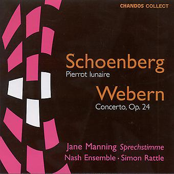 Schönberg/Webern - Schönberg: Pierrot Lunaire; Webern: Vioolconcert, Op. 24 [CD] USA importeren