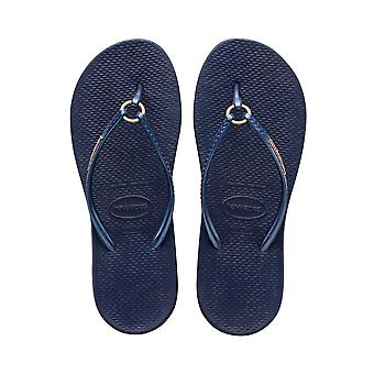 Havaianas Ring - Navy Blue (Man-Made) Womens Sandals Various