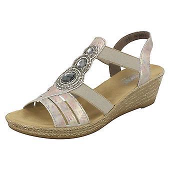 Dames Rouen wig sandalen 62459