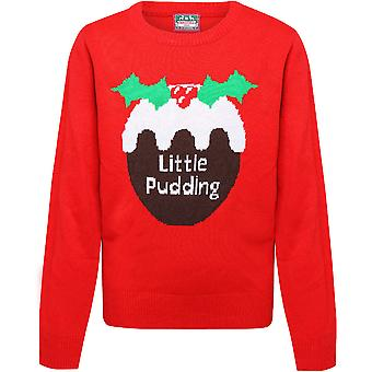 Christmas Boys & Girls Little Pudding Festive Sweater Jumper