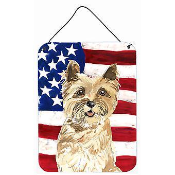 Patriotic USA Cairn Terrier Wall or Door Hanging Prints