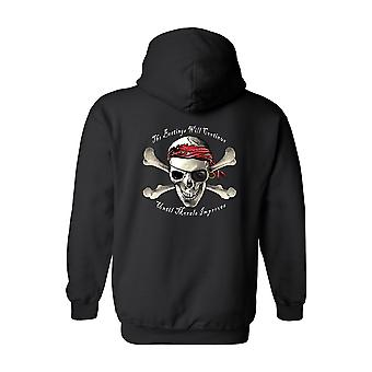 Herren / Unisex Zip Up Hoodie Piraten-Totenkopf