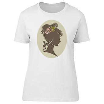 Woman Silhouette With Flowers Tee Women's -Image by Shutterstock
