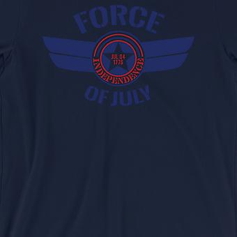 Force Of July Mens Navy 4th July T-Shirt US Army Friend Gift Tee