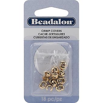 Gold-Plated Crimp Covers-6mm 18/Pkg