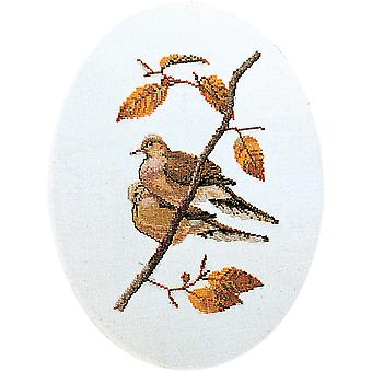Turtle Doves On Aida Counted Cross Stitch Kit-9.5