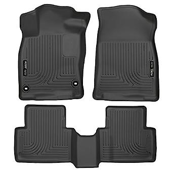 Husky Liners Front & 2nd plats golv Liners passar 16-18 Civic Coupe/Civic Sedan