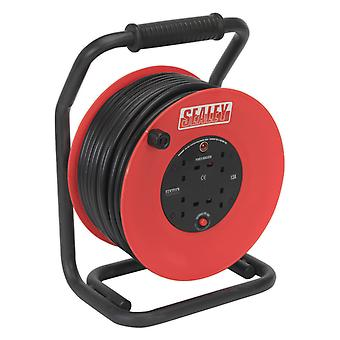 Sealey Cr25025 Cable Reel 50Mtr 4 X 230V 2.5Mm