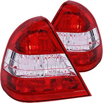 Anzo USA 221157 Mercedes-Benz Red/Clear Tail Light Assembly - (Sold in Pairs)