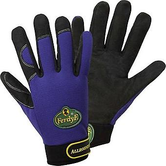 FerdyF. 1900 Royal-blue Clarino® Synthetic-Leather Gants Mechanics Allrounder EN 388