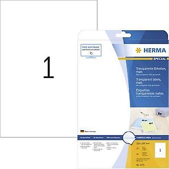 Herma 4375 Labels 210 x 297 mm Polyester film Tran