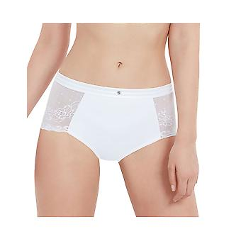 Bestform 03464 Women's Just Perfect Solid Colour Lace Light Control Slimming Shaping High Waist Brief