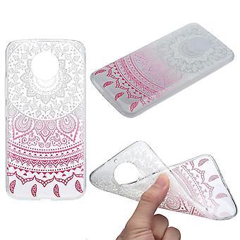 Cubierta de la henna para Motorola Moto E4 de silicona caso protector sol blanco