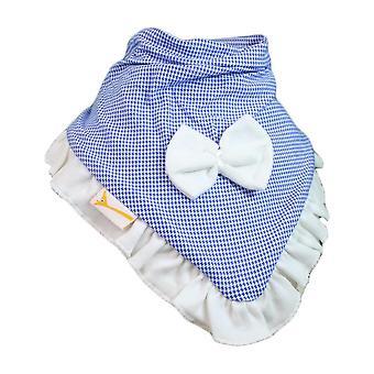 Niebieski & Biały bawełniany materiał w kratkę cutie kołnierz chustka bib