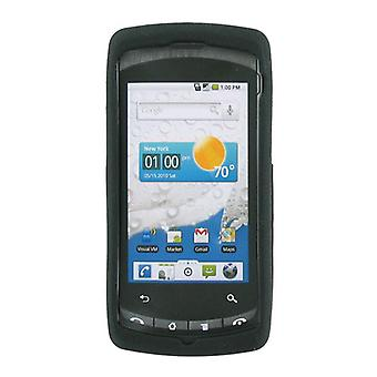 OEM Verizon LG Ally VS740 Snap-On Gel Case (Textured Black) (Bulk Packaging)
