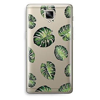 OnePlus 3T Transparent Case (Soft) - Tropical leaves