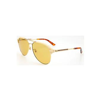Gucci Brown Aviator Sunglasses Gg0288Sa-004 60