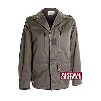 Ladies Army Green Military Style Trench Back Picture Women's Jacket Coat