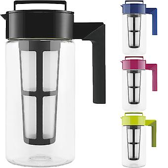 Takeya 1 Quart Tritan Kunststoff Flash-Chill Iced Tea Maker mit Mesh Tee Infuser