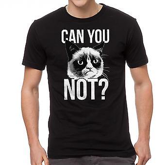 Gato gruñón puede que no de los hombres negro divertido t-shirt