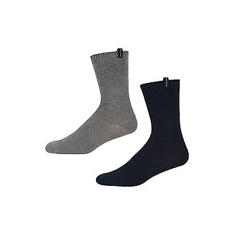 Ben Sherman Men's 2 Pack Thick Boot Socks Navy Grey Jasper Marl Daletta