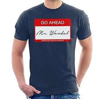 Mijnheer Wendal lied Lyric gearresteerd ontwikkeling mannen T-Shirt