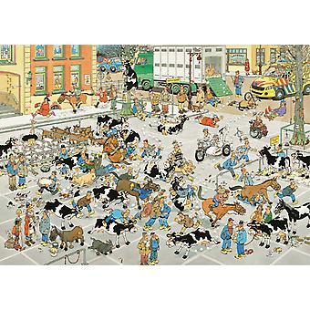 يان فإن هاستيرين بانوراما سوق الماشية لغز (1000 قطعة)