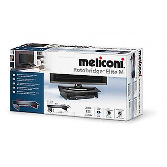 Meliconi Rotobridge Elite M, Support with Metal Base and Swivel 360° in Glass for TV and PC Monitor