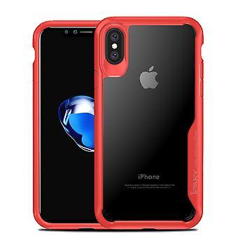IPAKY iPhone X TPU Hybrid Shell-rød