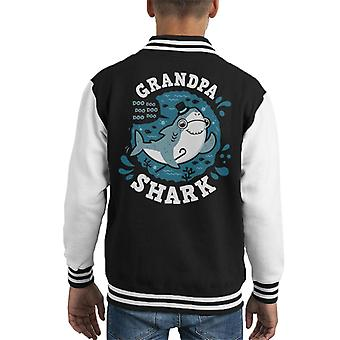Baby Shark Family Grandpa Kid's Varsity Jacket