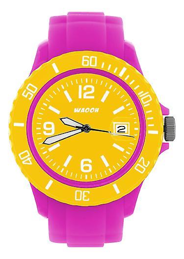 Waooh - Watch Pink Dial & Bezel MONACO38 Color