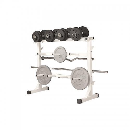 Rack de rangement pour poids et halt�res 30/31mm - Blanc GS019
