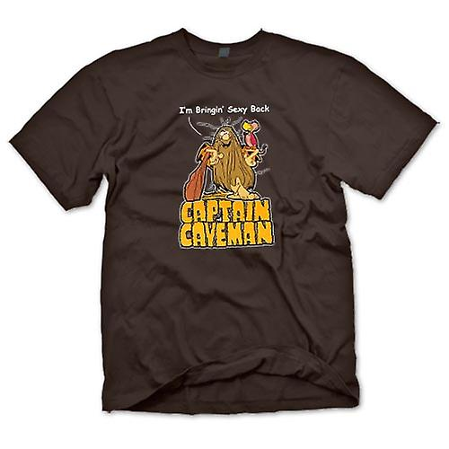 Herr T-shirt - Captain Caveman - Funny Cartoon - föra sexig
