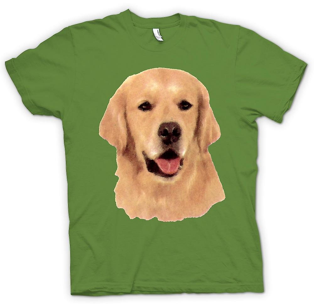 Mens t-shirt - Golden Retreiver - cane