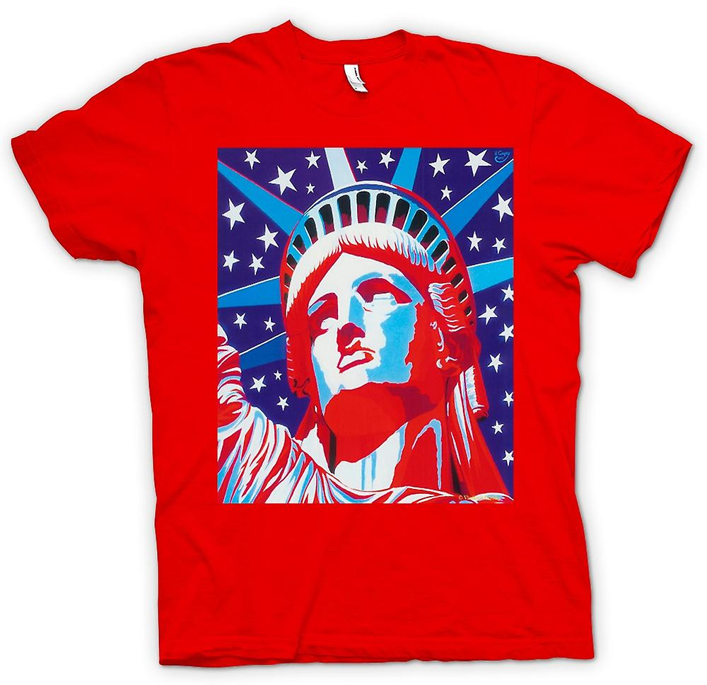 Mens T-shirt - Statue Of Liberty - Pop Art