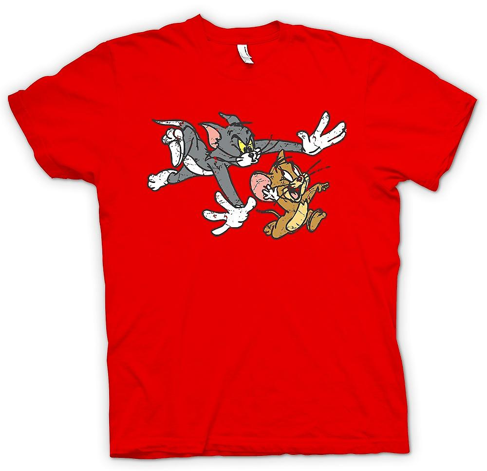 Mens T-shirt - Tom And Jerry - Retro Cartoon Classic Women