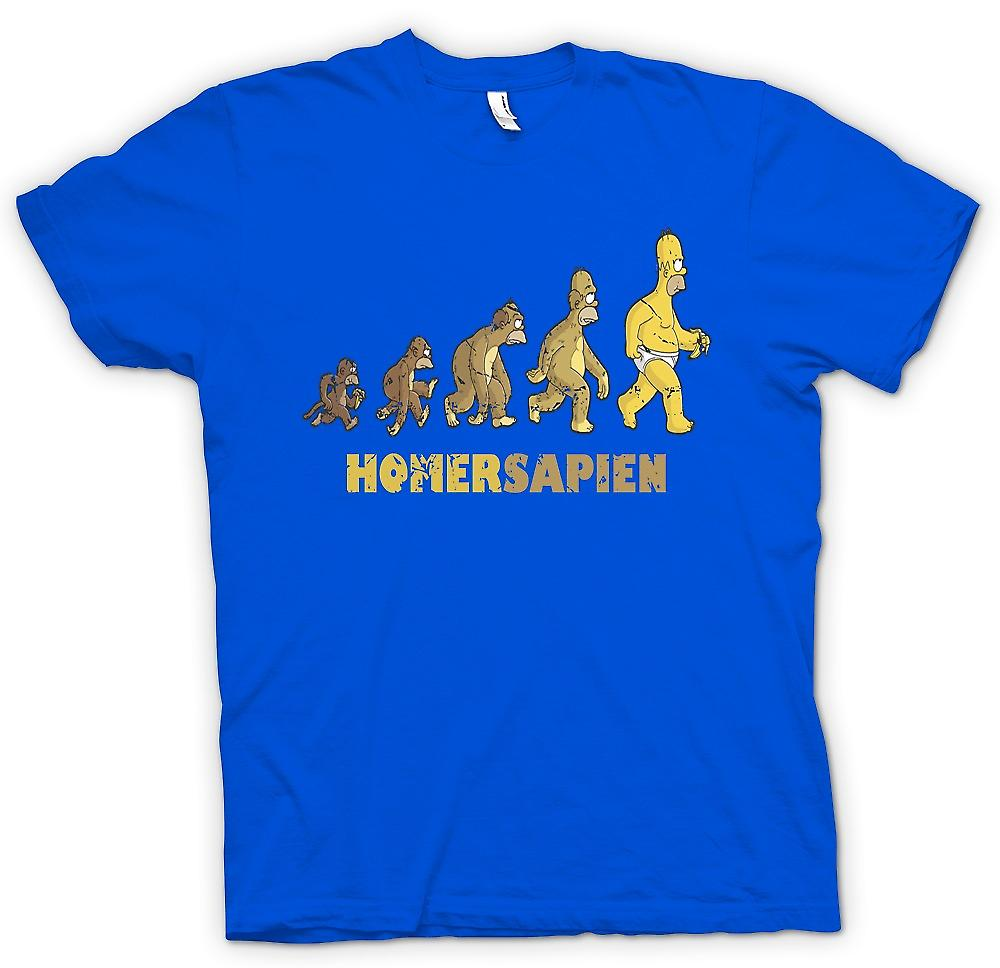 Mens T-shirt - Homersapien - Evolution Of Homer