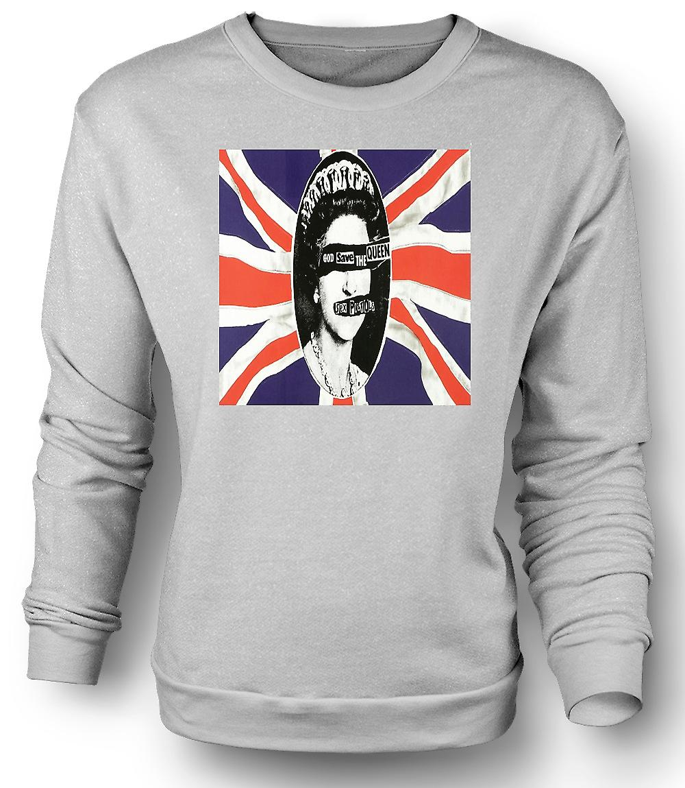 Mens Sweatshirt opslaan de Queen - Punk