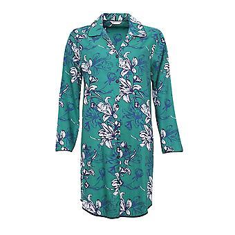 Cyberjammies 4067 Frauen Rosie Emerald grün Floral Print Schlaf-Shirt Nighty Nachthemd