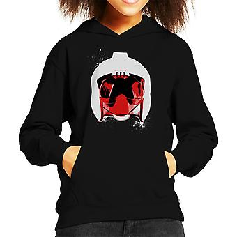 Original Stormtrooper Rebel Pilot Helmet White Paint Splatter Kid's Hooded Sweatshirt