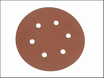 Faithfull Hook & Loop Sanding Disc DID2 Holed 150mm x 240g (Pack of 25)
