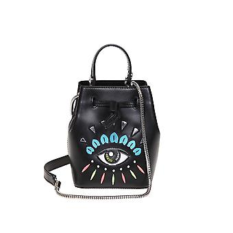 Kenzo Black Leather Shoulder Bag