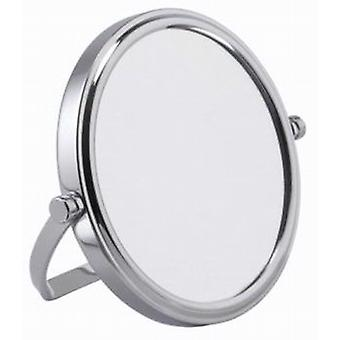 Famego 7x Magnification Chrome Travel Mirror